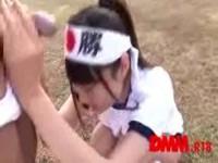 【アダルト動画】カワイい体操服姿の今時女子校生が変態なコーチにちんこを見せつけられる☆(無料)