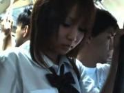 【アダルト動画】BUSで集団チカン師達に電動マッサージ機で無理やり感じさせられる今時女子校生(無料)