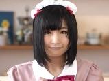 【アダルト動画】カワイいクロ髪メイドさんのノーハンドごっくんフェラチオ(無料)