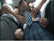 【アダルト動画】満員列車でオチンチン握らされた美今時女子校生JK☆(無料)