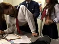 【アダルト動画】萬引きしたナマイキな制服今時女子校生が嫌々男に犯されまくる☆(無料)