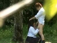 【アダルト動画】(青姦隠撮ムービー)帰り道の公園で彼にフェラチオチオする今時女子校生カップルを望遠レンズで隠し撮り…(無料)