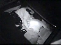 【アダルト動画】( 秘密撮影ムービー )駐車場で深夜カーSEXするムラムラした中年カップルを赤外線カメラでご覧下さい。(無料)