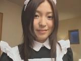 【アダルト動画】ご主人様にフェラチオ&変態手コキでご奉仕するメイドさん(無料)