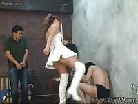 【アダルト動画】(SM指導)SMクラブの女王様がM男に聖水ぶっかける本格指導(無料)