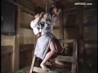 【アダルト動画】(SM指導)縛りされ三角木馬で指導強姦され絶叫する様(無料)