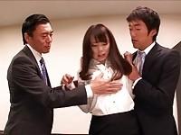 【アダルト動画】(強姦)モデルお姉さんを社長と上司が襲って凌辱輪姦強姦(無料)