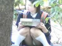 【アダルト動画】(今時女子校生パンチラ秘密撮影ムービー)ミニスカ今時女子校生が公園で昼食中にパンツ丸見えだったので隠し撮り☆☆☆(無料)