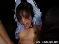 【アダルト動画】(SM指導)吊るし上げられ犯されてるのに性感のあまり素直になっちゃう清純お姉さん(無料)