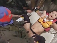 【アダルト動画】(強姦)敵に捕まり屈辱的強姦,&,ナカ出しされまくる正義のヒロイン(無料)