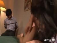 【アダルト動画】(強姦)縛りされた彼の目の前でヤクザにナカ出し強姦される(無料)