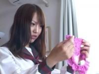 【アダルト動画】(フェチ)下着の抜き打ちチェックでピンクのえろパンツはいてたセイフク今時女子校生がスパンキングでオシオキ(無料)