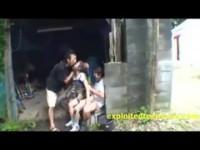 【無料エロ動画】 【アダルト動画】《性暴行》拉致られたJS山奥で輪姦まんこ内ぶっかけされている観覧注意