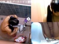 【エッチ動画】 【アダルト動画】《 盗み見movie 》とある市民プール女子WCでガール達のおしっこ完全盗み見したリアル映像★★★※3アングル盗み見