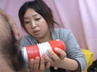 【エロ動画】 【アダルト動画】ウブなS級素人娘のTENGAコキ&スキン手袋ハンドサービス