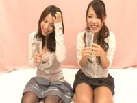 【H動画】 【アダルト動画】ほろ酔いドしろーと女性2人に10本同時に一人エッチ鑑賞