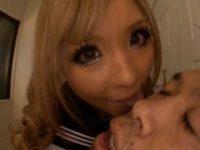 【宮下つばさ】 【アダルト動画】《ユニフォームぎゃるムービー》いきなりやって来た褐色娘に顔面からち○こまでベロッベロにprprられる。宮下つばさ