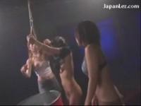 【エロ動画】 【アダルト動画】《エスエム訓育》百合訓育両手を吊られて不良女にリンチされる