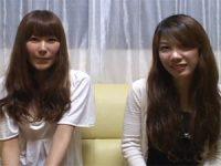 【H動画】 【アダルト動画】お酒の勢いでチンポをシコシコするシロウト女性2人