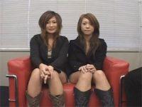 【無料エロ動画】 【アダルト動画】そそり立つぼっきちんこを凝視するS級素人今時ギャル2人