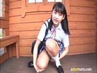 【無料エロ動画】 【アダルト動画】《フェチ》通学服美ガールのぱっつぱつの下着はみパンピュアスマイル