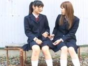 【エッチ動画】 【アダルト動画】みずなれい 永作みき タイムを止めてえっちの練習をする女子校生