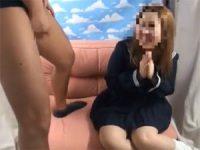 【エッチ動画】 【アダルト動画】会話したウブなドしろーと娘に精液飛び出る瞬間見とどけてもらう!!!