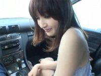 【エロ動画】 【アダルト動画】激カワシロウト御姉さんが車内でオーラルセックス抜き!!