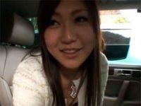 【H動画】 【アダルト動画】カワイイ奥様が車内でぺろぺろ抜きしてスペルマごっくん