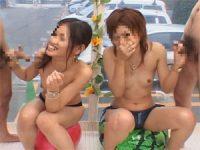 【無料エロ動画】 【アダルト動画】海で軟派したS級素人ぎゃる2人組に手淫おしゃぶりで抜いてもらう!!