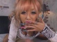 【愛菜りな】 【アダルト動画】黒GAL愛菜りなが抑制 汁あふれる巨大チンチンをHな音だしフェラチオチオ