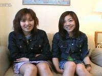 【エッチ動画】 【アダルト動画】ミニスカドしろーと娘2人組の4545鑑賞