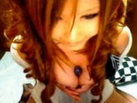 【無料エロ動画】 【アダルト動画】巻き髪の毛に巨乳なエロさ100点のシロウト今時ギャルLiveChatで自家発電 配信