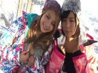【無料エロ動画】 【アダルト動画】スキー場で会話した今時ギャル二人を宿に連れ込んでパコパコグループセックスエッチ☆