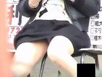 【無料エロ動画】 【アダルト動画】【パンチラ隠撮動画】ミニスカ素人の一瞬の油断…椅子や階段に座って純白パンツが丸見えを接写撮りww