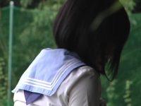 【エロ動画】 【アダルト動画】ユニフォーム姿のロリータ学生が室外でこっそり自慰している姿を隠し撮り!!!カメラに気付かず必死に手技で喘ぐ!