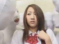 【H動画】 【アダルト動画】エレベーターの中で目に見えないケダモノ な透明人間に犯されるぎゃる学生