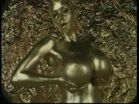 【H動画】 【アダルト動画】体全体に金銭粉を塗りつけられたマニアックな金銭粉美女?♪