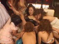 【H動画】 【アダルト動画】営業終了した女性出演が宴とばかりに百合ップルプレイ大3Pに喘ぐ☆