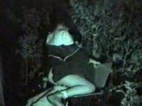 【H動画】 【アダルト動画】《 隠撮ムービー 》深夜の公園ベンチでシロウトカップルが屋外えっち開始!!!赤外線カメラで女親友がヨガってる姿を録画★★★