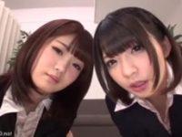 【H動画】 【アダルト動画】耐える弱いキチガイ男にお叱りS語W痴女女!!