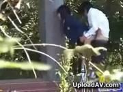 【エッチ動画】 【アダルト動画】室外で学生カップルがえっちしちゃう露出ファックムービー