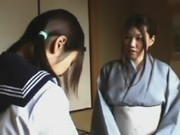 【H動画】 【アダルト動画】和装美人なかあちゃんに学生の娘はお下半身をしばかれる叱責の時刻