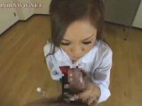 【アダルト動画】 【アダルト動画】口の中に潤滑油含みおしゃぶりチオする黒ぎゃる女子校生エロすぎ☆☆☆