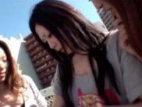 【H動画】 【アダルト動画】今時ギャルに会話された今時ギャルがお小遣い欲しさにグループセックス百合ップルエッチお披露目!