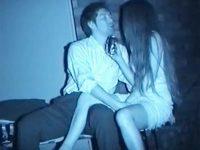 【エロ動画】 【アダルト動画】【青姦隠撮動画】深夜の真っ暗な場所でイチャつくカップル…酒を片手にセックス始める様子を赤外線カメラで撮影ww