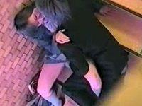 【アダルト動画】 【アダルト動画】【青姦隠撮動画】イケメン彼氏の言いなりペットなのか…階段の踊り場で性行為をする女子校生カップルww