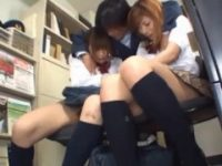 【H動画】 【アダルト動画】「親にだけは言わないで下さい」無賃乗車したぎゃる女子高生二人組に生ハメなか内ぶっかけする駅員