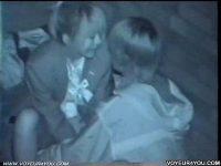 【無料エロ動画】 【アダルト動画】真っ暗なアウトドアでいちゃつく通学服カップルを赤外線カメラで盗み見★まさかエッチまでしちゃうなんて★