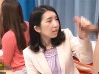【アダルト動画】 【アダルト動画】アラフォー既婚者(35年以上)2人組にデカチ○ポを見せつけると!!
